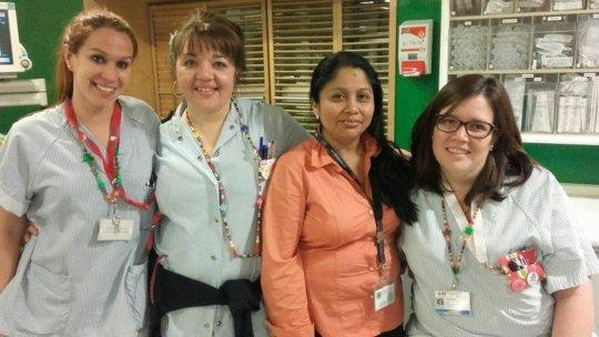 Madrid nurses with Ana Rosa