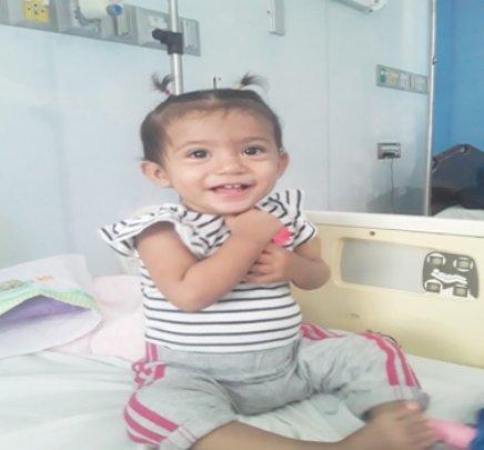 Little Zamara (14 mo.), Managua; outcome excellent