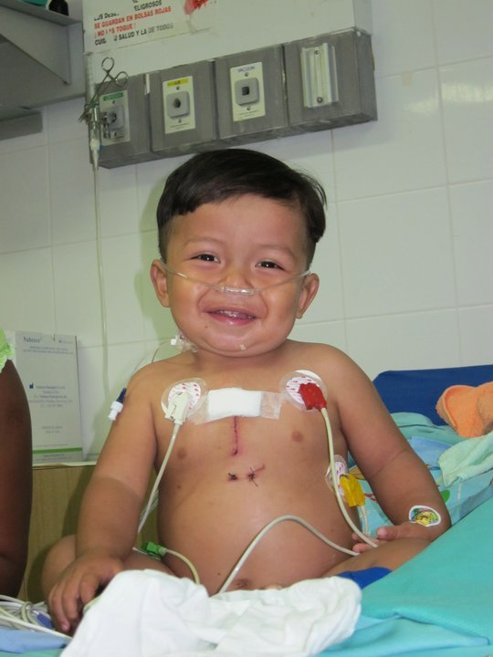 A smiling angel. At Surgeons of Hope, we provide poor children in Latin America with life-saving heart surgery. We give infants like this angel the chance to reach adulthood and bring hope to them, their parents and the local community. In the end, we are all rewarded with a priceless smile.