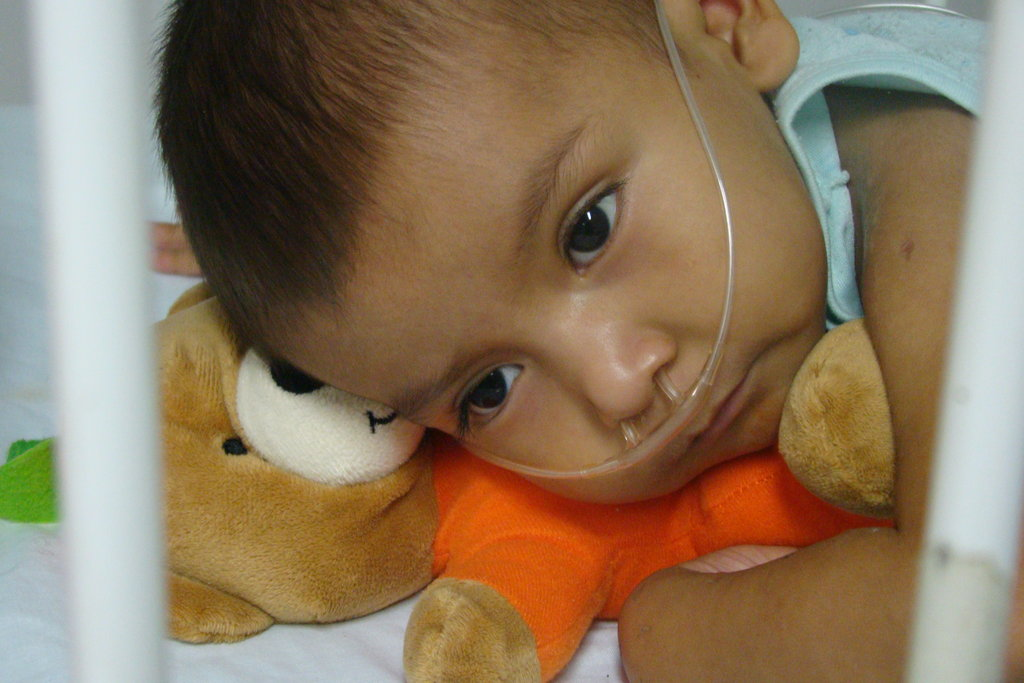 What a brave little boy.  He underwent several hours of life-saving heart surgery, thanks to Surgeons of Hope?s work in Latin America.  He is resting comfortably in the arms of his cuddle bear. Just one surgery has transformed his life for the better:  now he can live the life of a child.