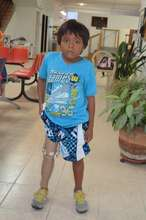 Francisco was so excited to walk again