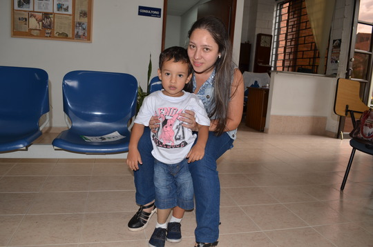 Matias and mommy, always together