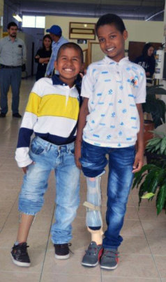 Keyner and Juan Jose, posing together.