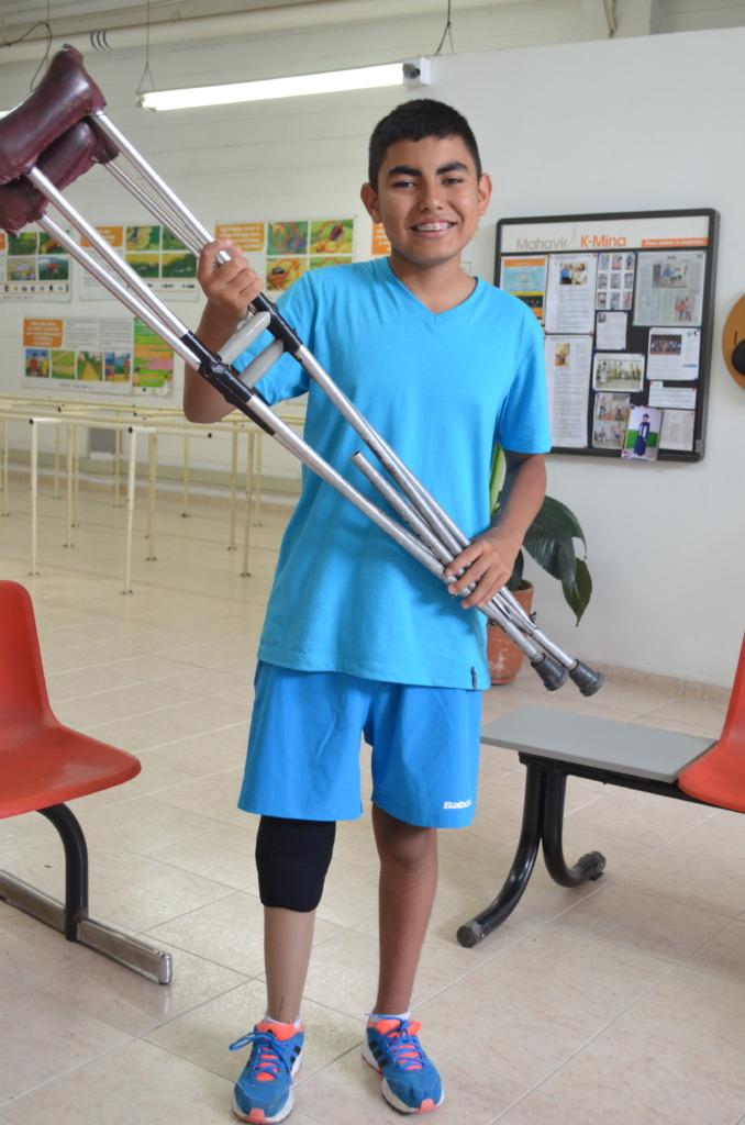 Luigy wont use crutches again!