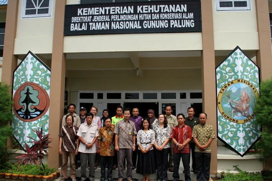 ASRI Conservation team outside the BTNGP Office