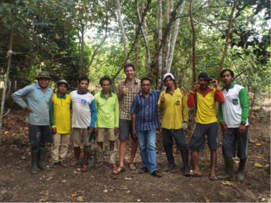 Adam and the reforestation workers
