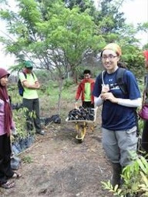 Conservation Director Erica at the replanting