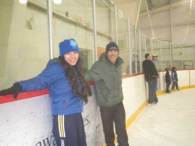 Ebhert & Elvira Learning to Ice Skate in Victoria