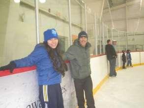 Ebhert & Elvira Learning to Ice Skate in Victoria
