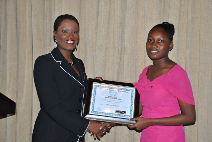 CEO Nikiki Bogle awards Trevisa a Scholarship-2010