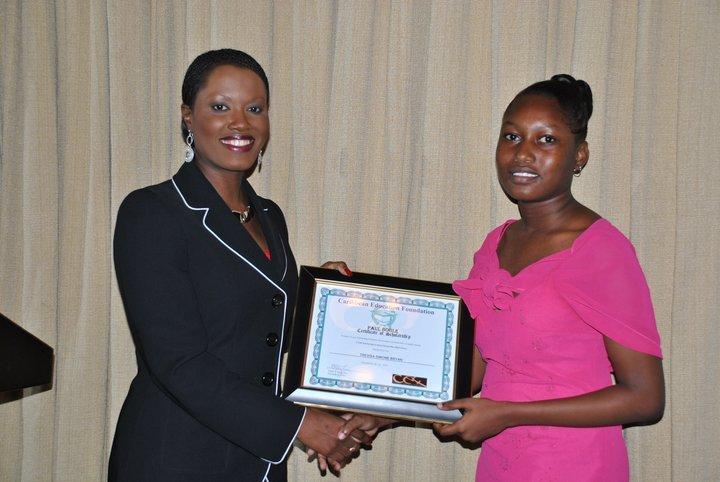 CEO Nikiki Bogle awards Trevisa a Scholarship-2010