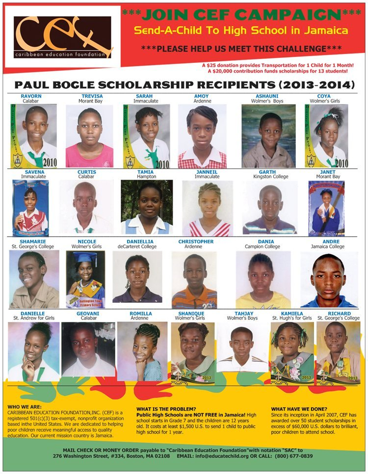 Send a Child to High School in Jamaica - Campaign
