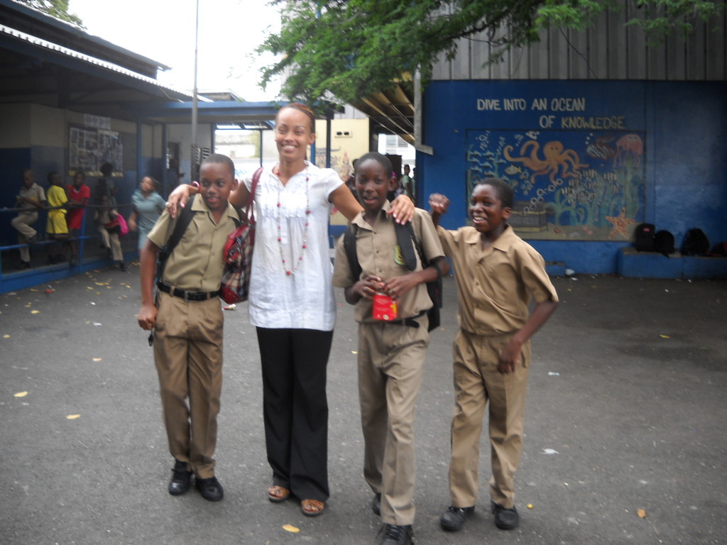Rep. Tanya McLennon with students-St. Peter Claver