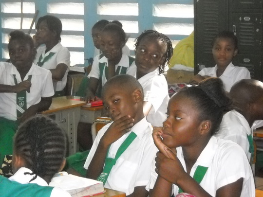 Students at Duhaney Park Primary