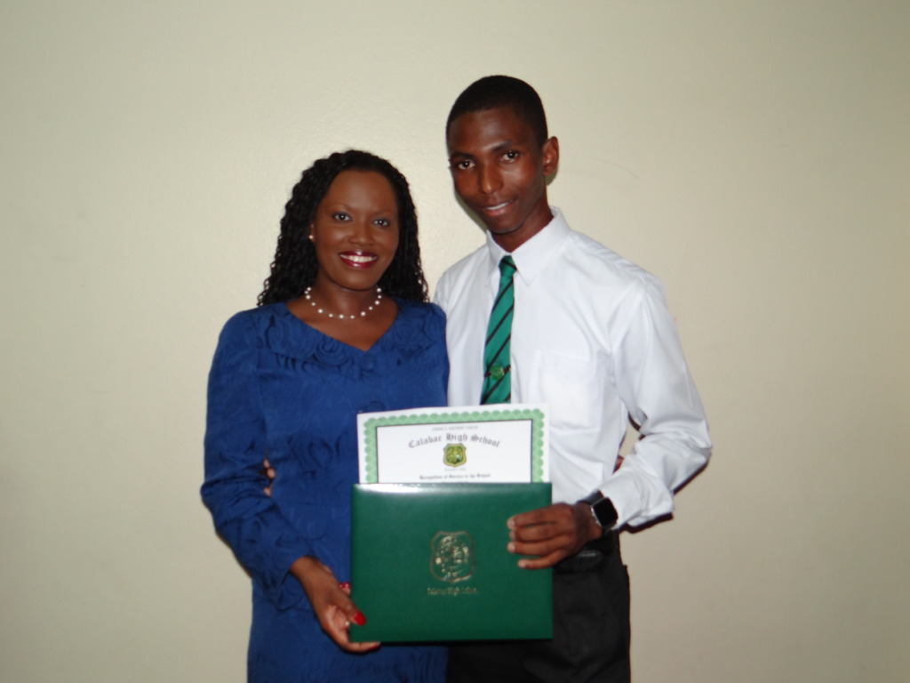 CEF CEO Nikiki Bogle and Ravorn at his graduation