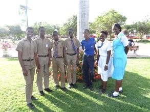 CEF Scholars at Emancipation Park in Jamaica