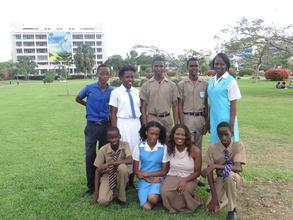 CEF Scholars with CEO Nikiki Bogle in Jamaica