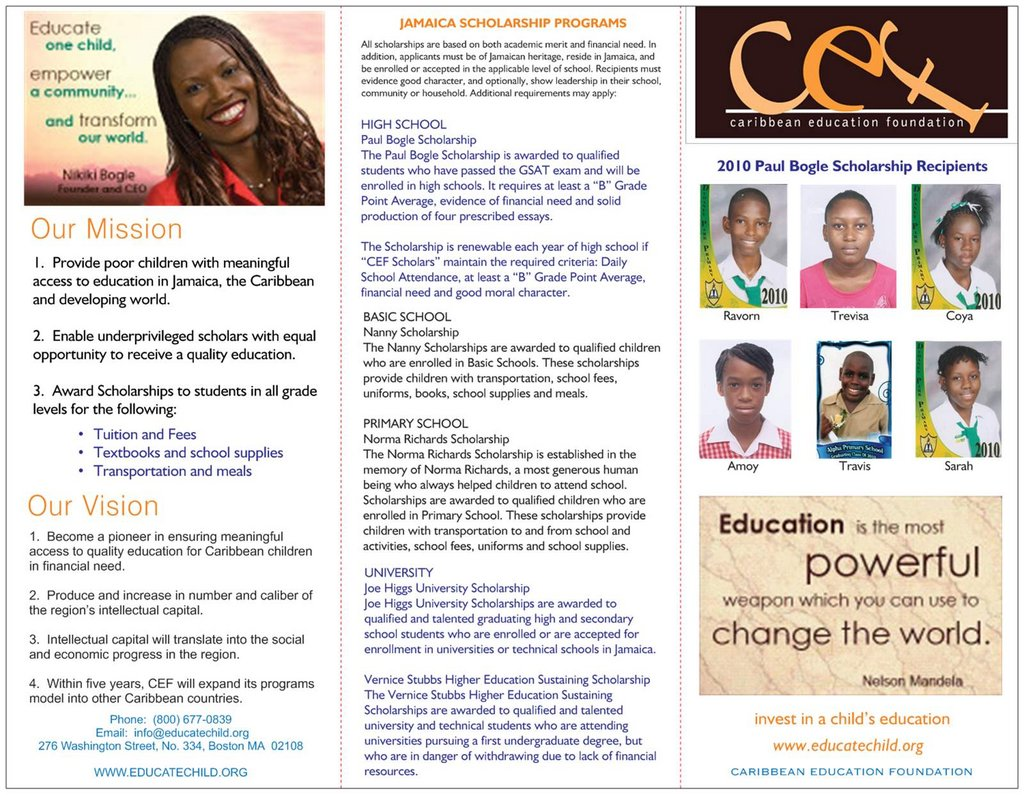Send a Child to High School in Jamaica