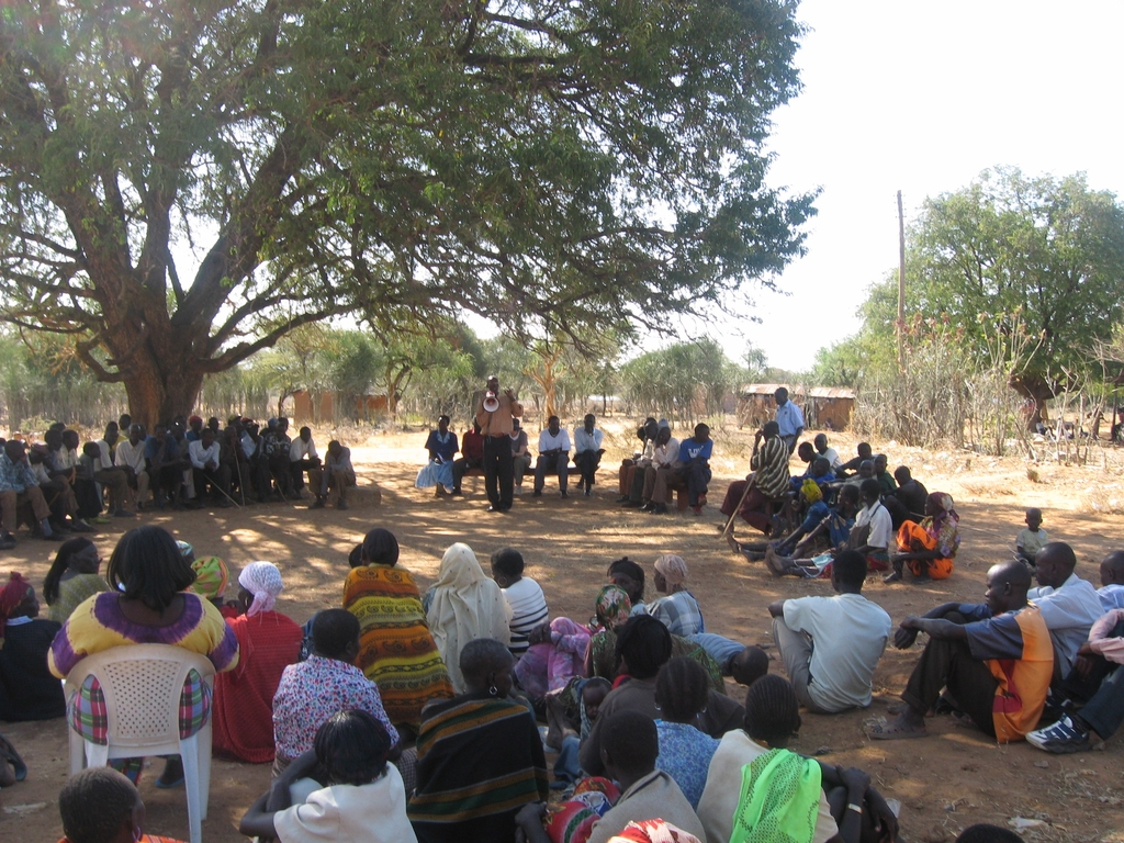 HealthRight Community Meeting in Kacheliba