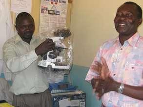 A microscope donation to health facility