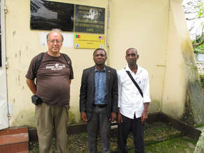 Tom Neuhaus with Director of Agoa and Kila Balon