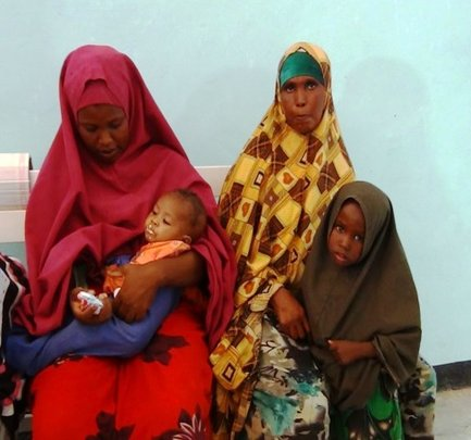 Mothers and children at a RI clinic