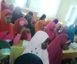 A primary school girls' club meeting