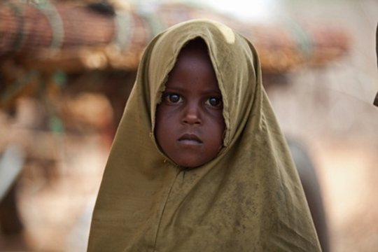 A Somali refugee girl near Hamey, Kenya
