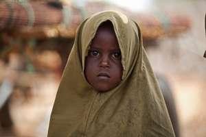 A Somali refugee girl near Hamey, Kenya