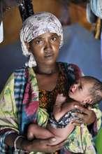 Safia Hussein Mohamed & her one week old son
