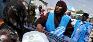 UNHCR Staff Distributing Jerry Cans in Somalia