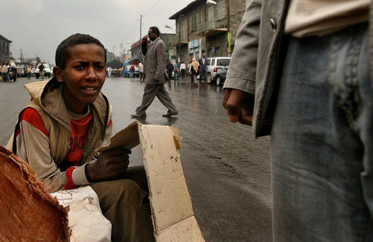Biniam - On the streets in Addis Ababa