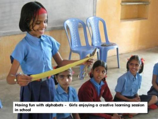 Gift learning kits to rural girls