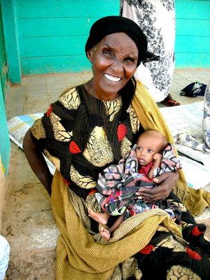 Hijad with his grandmother Halima, Gode Hospital