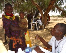 A Merlin mobile clinic, Turkana