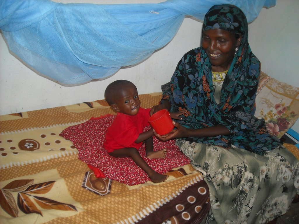 Safe at one of our therapeutic feeding centers