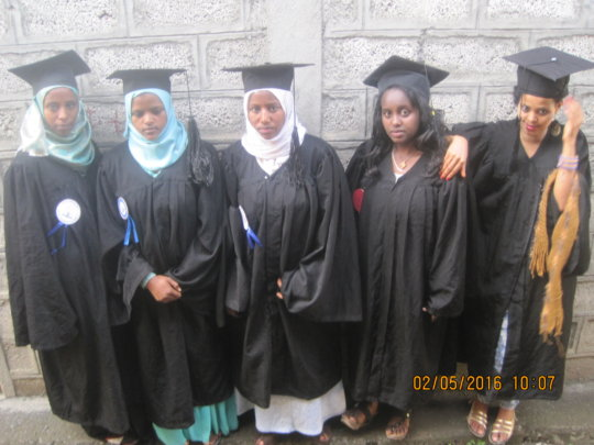 Ethiopian Nursing Students at Graduation