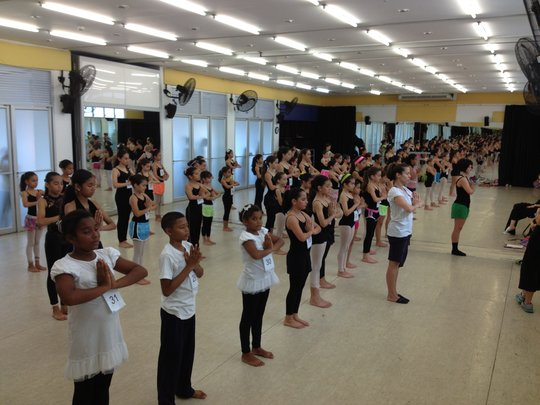 Our kids (with white shirts) at the audition