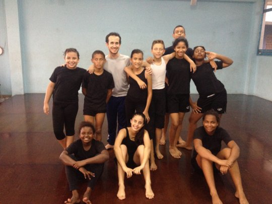 After classes with Diego Alvarez Sanou