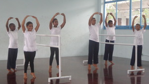 Ballet barre demonstration