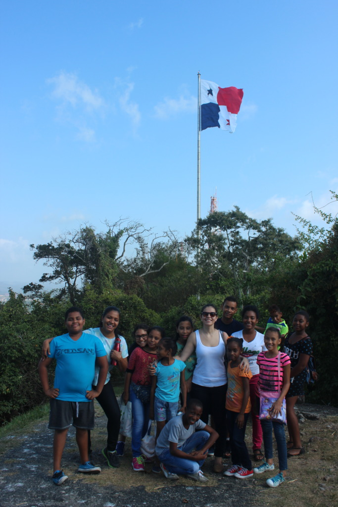 On top of Ancon where our national flag is located