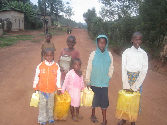 children to fetch water to clean their classrooms