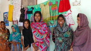 Young girls skilled near Hyderabad