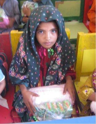 Girl provided health kits