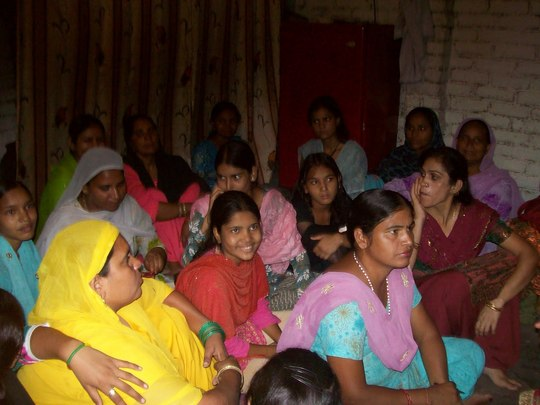 Girls attending seminar by AHD women staff