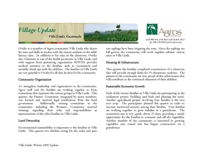 Villa Linda Winter 2009 Update (PDF)