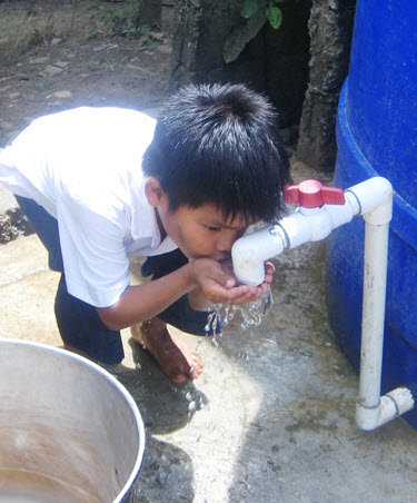 Safe water flows from Mother Nature to Maribel