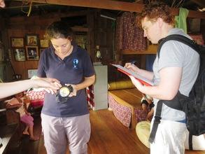 SIBAT volunteers assessing household energy use