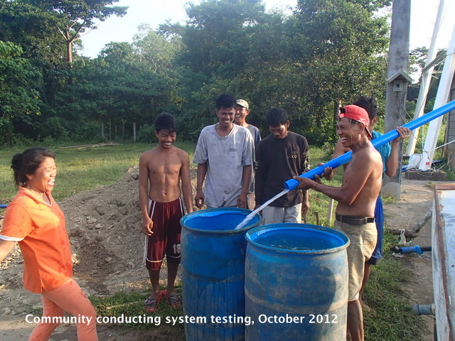 Locals testing water supplied by solar system
