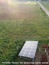 PV solar panels for powering water pump